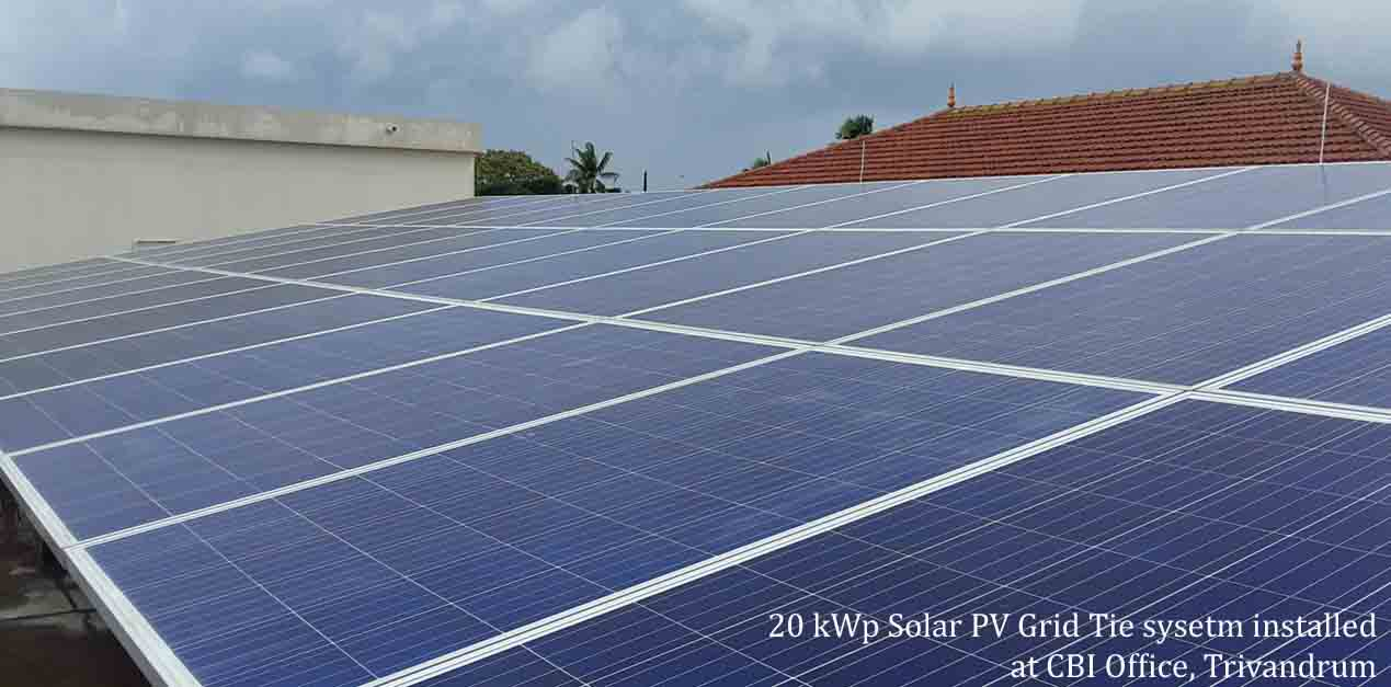 2 kW Grid Tied Solar Power System