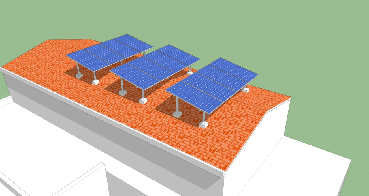 5 kWp Grid Tied Solar Power Plant