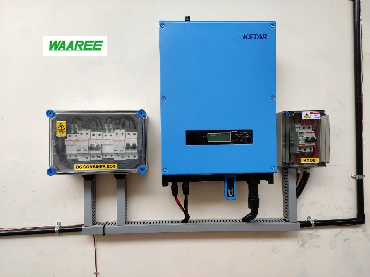 3KW On grid system with Waree Solar panel and Kstar inverter