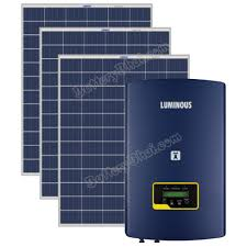 3KW LUMINOUS Grid Tie Solar Plant