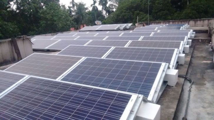10 kW Grid Tied 3 Phase Solar Power Plant